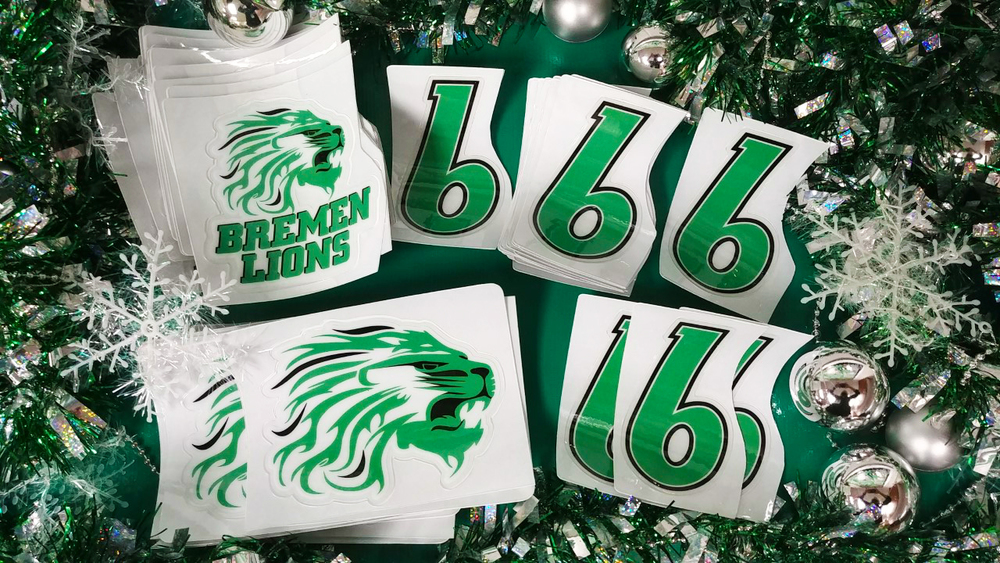 BREMEN LIONS Decals Make Great Gifts!