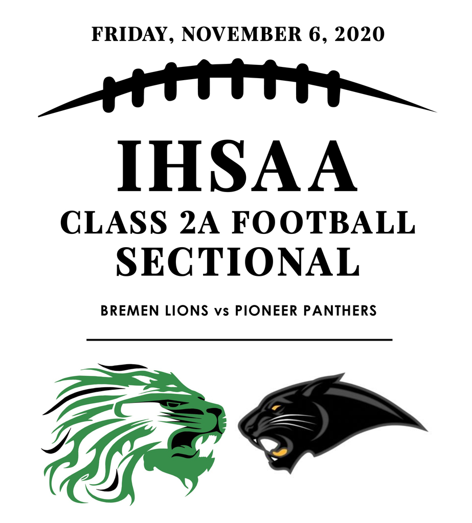 Bremen Football Sectional Championship Game 2020