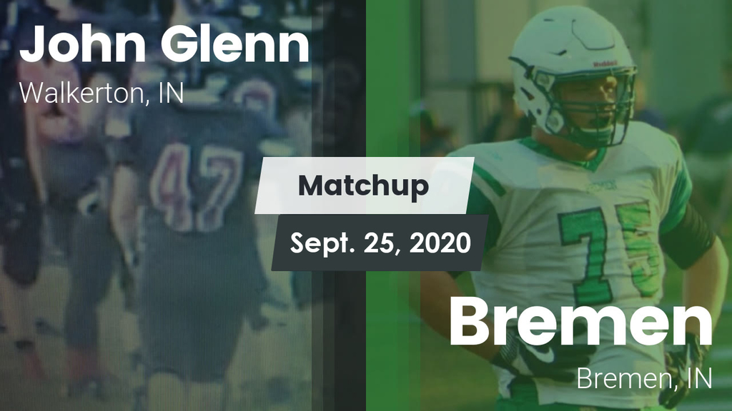 Bremen Glenn Football Matchup Sept 25 2020